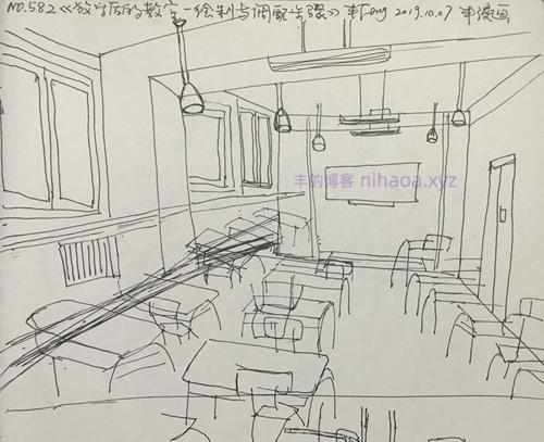 丰漫画-放学后的教室-绘制与调配步骤