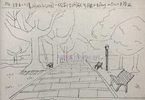 丰漫画-清闲的小公园-绘制与调配步骤